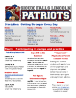 May 2017 Patriots Newsletter